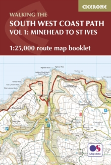 South West Coast Path Map Booklet - Minehead to St Ives : 1:25,000 OS Route Mapping, Paperback Book