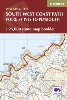 The South West Coast Path Map Booklet - St Ives to Plymouth : 1:25,000 OS Route Mapping, Paperback Book