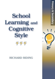 School Learning and Cognitive Styles, Paperback