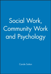Social Work, Community Work and Psychology, Paperback