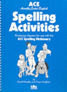 ACE Spelling Activities : Photocopy Masters for Use with the ACE Spelling Dictionary, Spiral bound