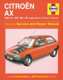 Citroen AX (1987-97) Service and Repair Manual, Hardback Book