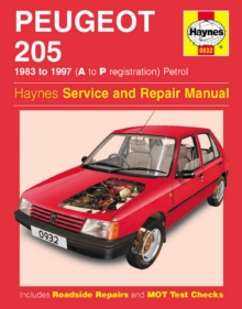 Peugeot 205 Petrol (1983-1997) Service and Repair Manual, Hardback Book