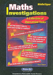 Maths Investigations : A Collection of Open-ended Tasks, Mixed media product