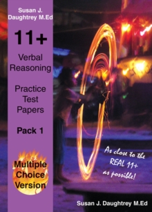 11+ Verbal Reasoning Test Papers : Multiple Choice Version, Paperback Book