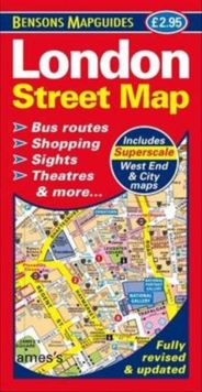 London Street Map, Sheet map, folded Book