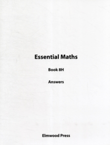 Essential Maths Book 8H Answers, Paperback