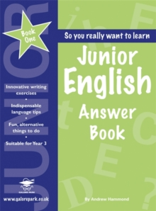 Junior English Book 1 Answer Book, Paperback