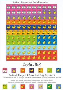 Dodon't Forget and Save the Day Stickers from Dodo Pad : 320 Self-Adhesive Reminder Stickers in 14 Different Designs, Stickers
