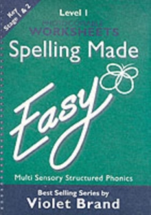 SPELLING MADE EASY W/SHEET LEVEL 1, Paperback Book