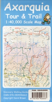 Axarquia (Costa Del Sol) Tour & Trail Map, Sheet map, folded