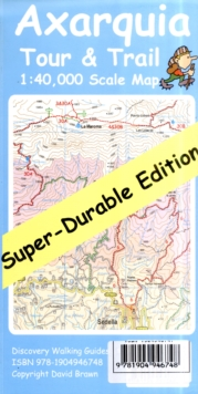 Axarquia Tour & Trail Map Super-durable Edition, Sheet map, folded Book