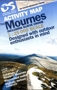 Mournes Activity (inc Croob), Sheet map, folded