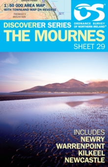 Mournes, Sheet map, folded