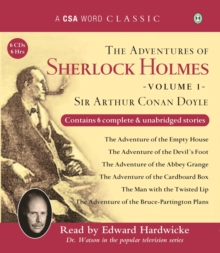 The Adventures of Sherlock Holmes : Volume 1, CD-Audio Book