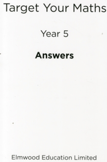 Target Your Maths Year 5 Answer Book : Year 5, Paperback