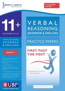 11+ Verbal Reasoning Grammar & Spelling for Cem, (Multiple Choice Practice Tests Included) : Book 2, Paperback