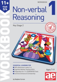 11+ Non-Verbal Reasoning Year 3/4 Workbook 1 : Including Multiple Choice Test Technique, Paperback