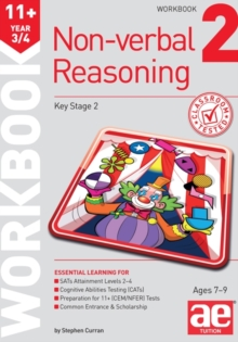 11+ Non-Verbal Reasoning Year 3/4 Workbook 2 : Including Multiple Choice Test Technique, Paperback