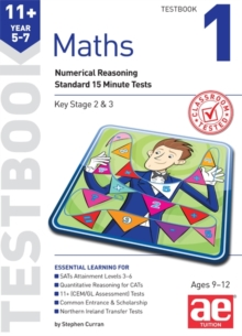 11+ Maths Year 5-7 Testbook 1 : Standard 15 Minute Tests, Paperback