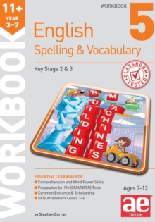 11+ Spelling and Vocabulary Workbook 5 : Intermediate Level, Paperback