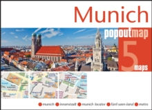 Munich Popout Map, Sheet map, folded