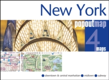 New York Popout Map, Sheet map, folded