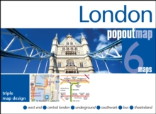 London Popout Map : 3 Popout Maps in One Handy, Pocket-Size Format, Sheet map, folded