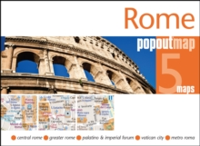 Rome PopOut Map, Sheet map, folded Book
