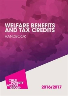 Welfare Benefits and Tax Credits Handbook, Paperback