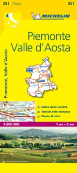 Piemonte and Vallee Aoste, Sheet map, folded