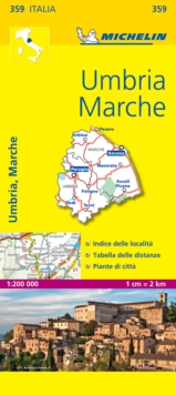 Marche and Umbria, Sheet map, folded Book