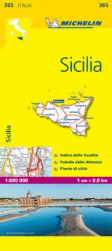 Sicilia, Sheet map, folded