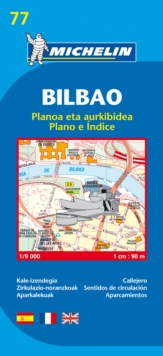 Map 9077 Bilbao, Sheet map, folded Book