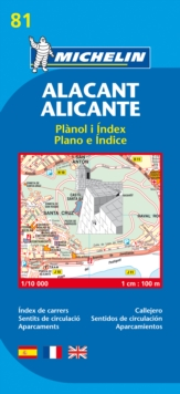 Map 9081 Alicante, Sheet map, folded