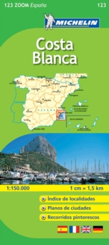 Costa Blanca, Sheet map, folded
