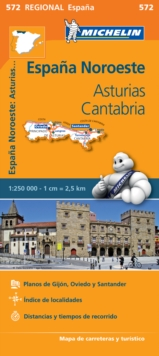 Asturias, Cantabria, Sheet map, folded Book
