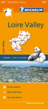 Pays-de-la-Loire Map 517 : Michelin Regional Maps: France, Sheet map, folded Book