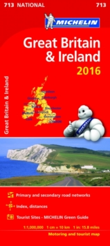 Great Britain & Ireland 2016 National Map 713, Sheet map, folded