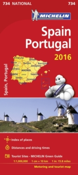 Spain & Portugal 2016 National Maps 734, Sheet map, folded