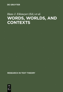 Image of Words, Worlds, and Contexts : New Approaches in Word Semantics
