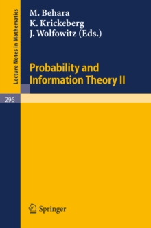 Image of Probability and Information Theory II