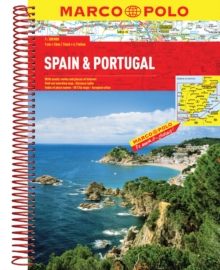 Spain / Portugal Marco Polo Atlas, Spiral bound