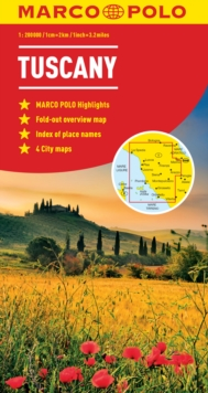 Tuscany Marco Polo Map, Sheet map, folded Book