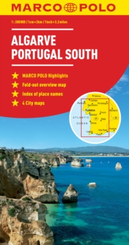 Algarve, Portugal South Marco Polo Map, Sheet map, folded