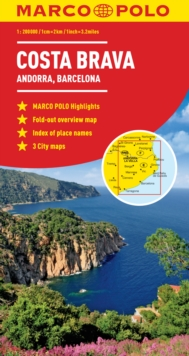 Costa Brava - Andorra, Barcelona Marco Polo Map, Sheet map, folded Book