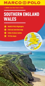 Southern England / Wales Marco Polo Map, Sheet map, folded