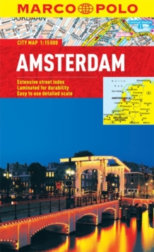 Amsterdam Marco Polo City Map, Sheet map, folded