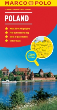 Poland Marco Polo Map, Sheet map, folded Book