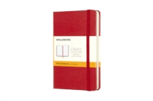 Moleskine Pocket Ruled Notebook Red, Notebook / blank book